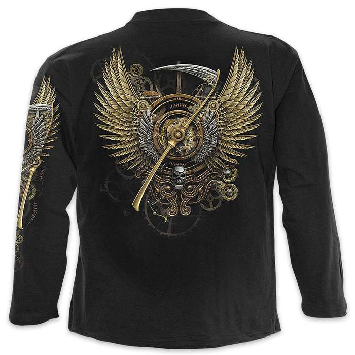 Black Steam Punk Reaper Wrap - Allover T-Shirt Long-Sleeve