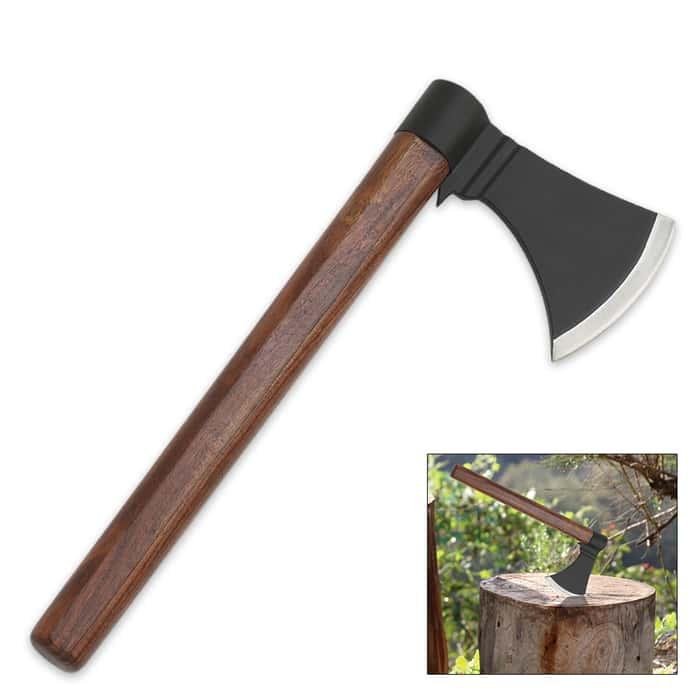 Wood Handled Throwing Hatchet - Axe