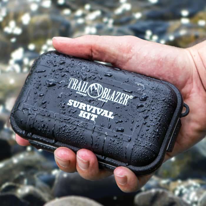 """Trailblazer Pocket Survival Kit in 3"""" x 5"""" Water Resistant Case"""