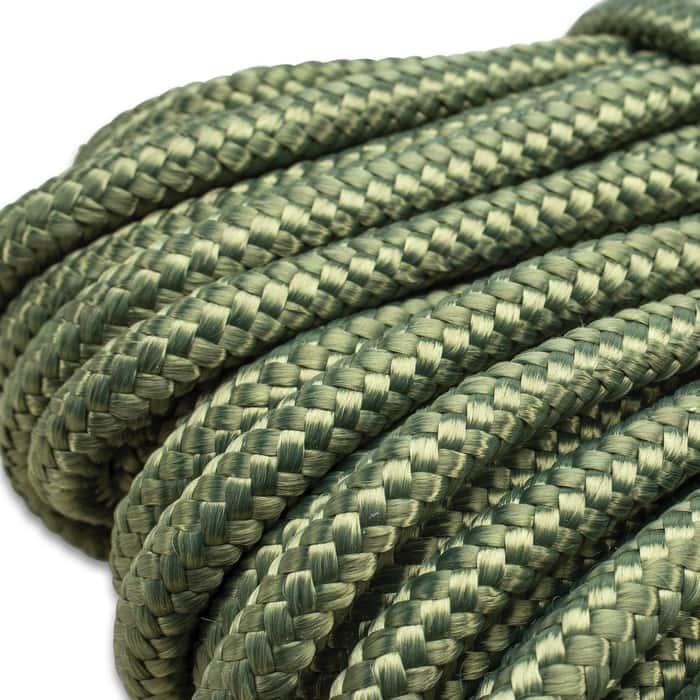 "Trailblazer Utility Rope - Braided Polypropylene, Mildew And Rot Resistant, 1/4"" Diameter - Length 65 1/2'"