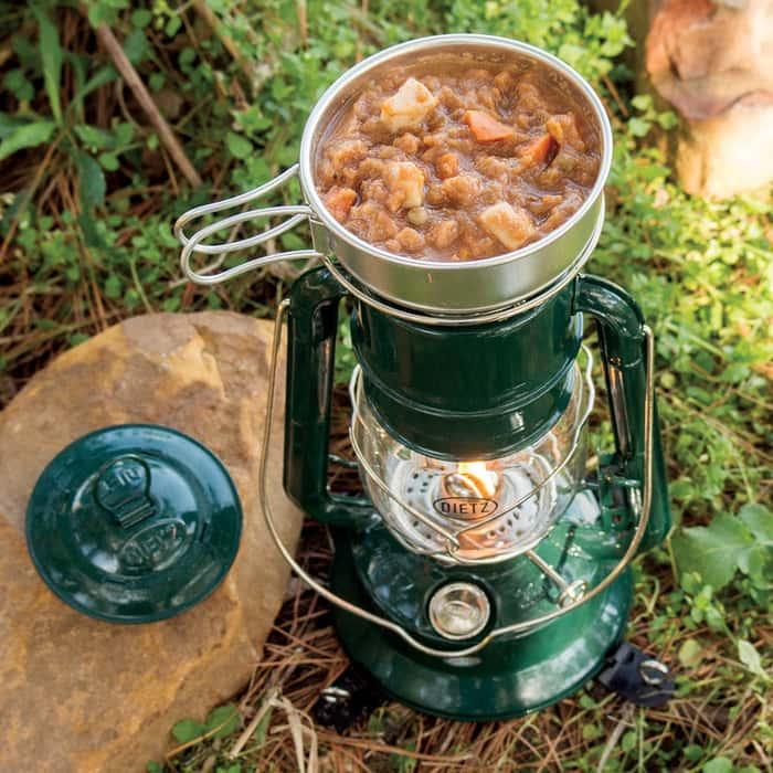 Dietz Millennium Lantern Cooker - Green with Chrome Trim