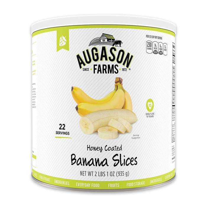 Augason Farms Banana Slices - Institutional Size Can