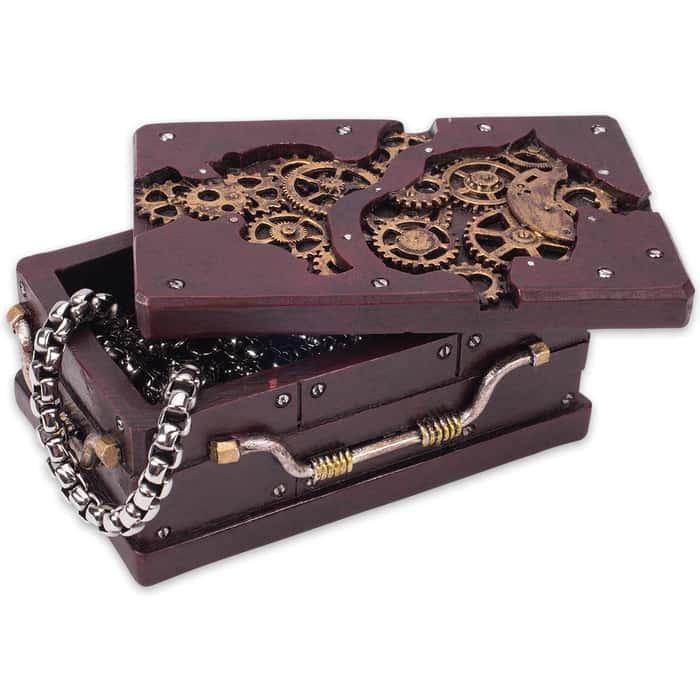 Rectangle Steampunk Trinket Box