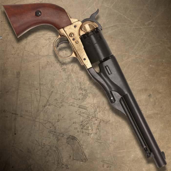 Replica M1861 Navy-Issue Revolver Brass