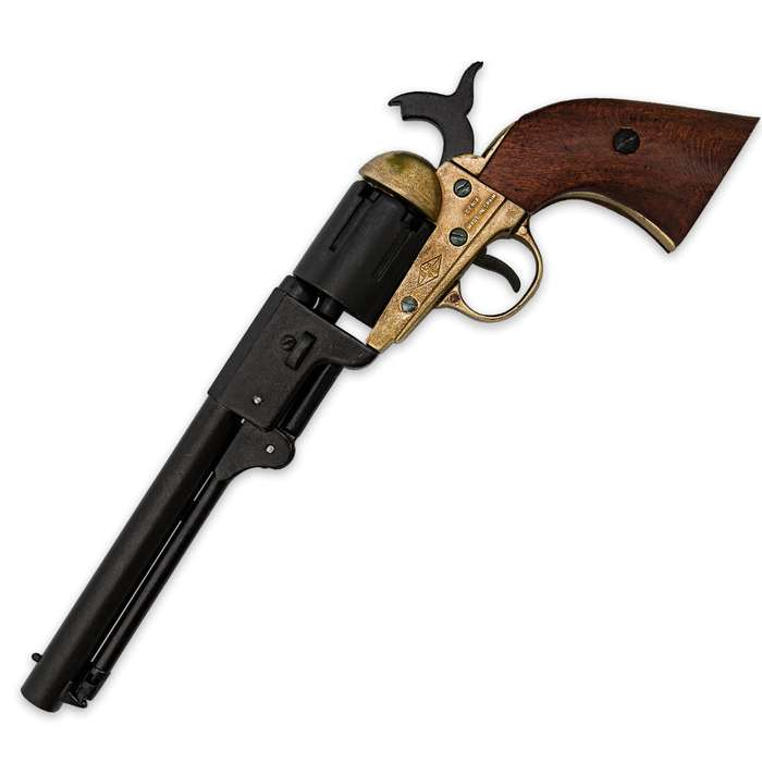 Replica Navy Revolver With Brass Accents