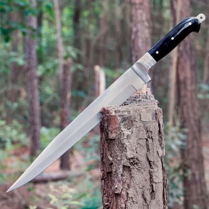 Arabian Khyber Bowie Knife and Leather Sheath