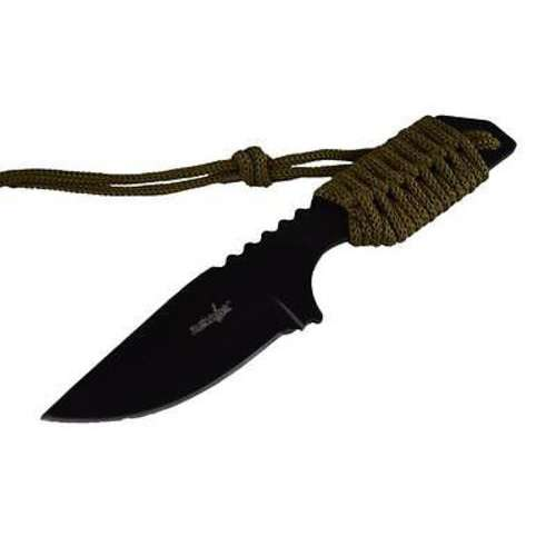 "7"" TACTICAL SURVIVAL Camping Hunting FIXED BLADE KNIFE Army Bowie w/ SHEATH"