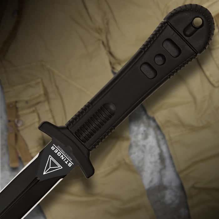 United Cutlery Special Agent Stinger Black Dagger Wrist Sheath