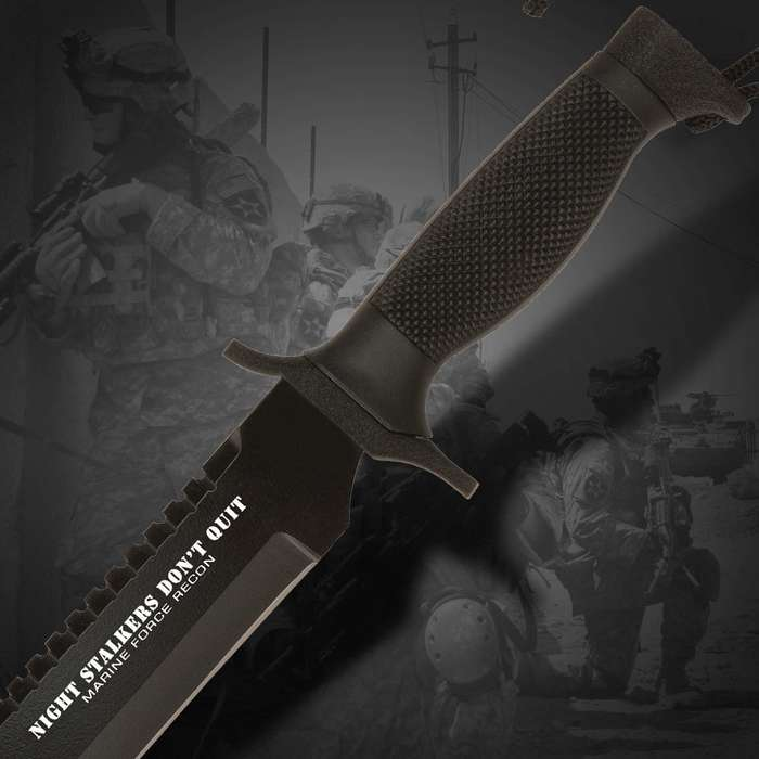 United Cutlery Nightstalkers Dont Quit Tanto Knife