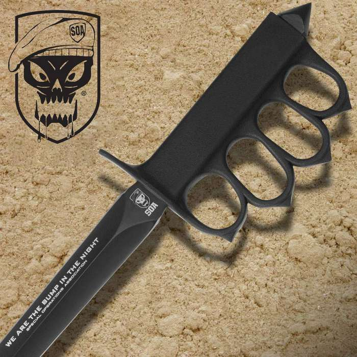 """United Cutlery S.O.A. """" We Are Bump In The Night ®"""" WWI Trench Knife"""