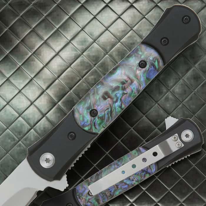 Ridge Runner Abalone Assassin Assisted Opening Pocket Knife