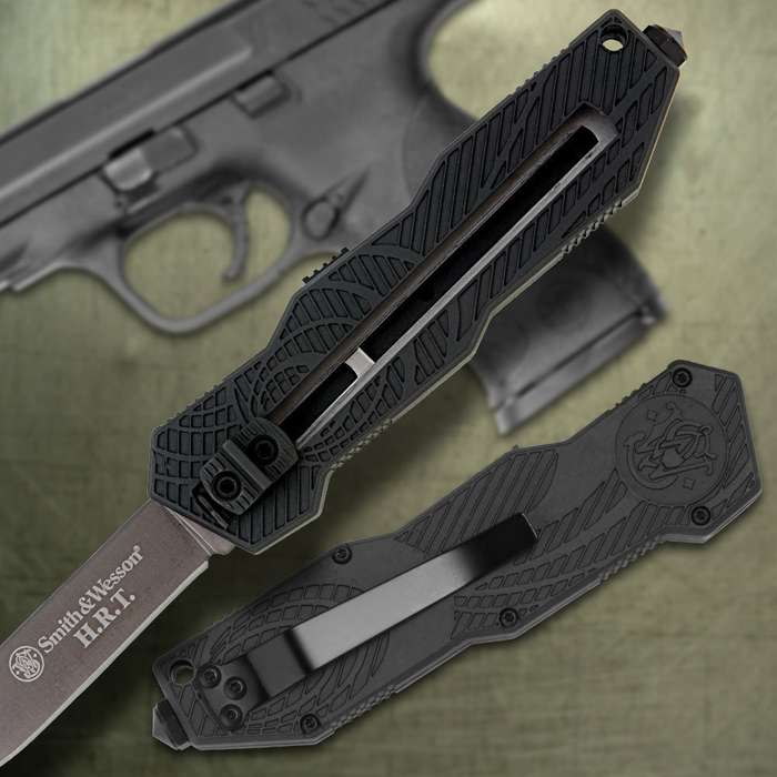 Smith & Wesson OTF Assisted Opening Pocket Knife Drop Point