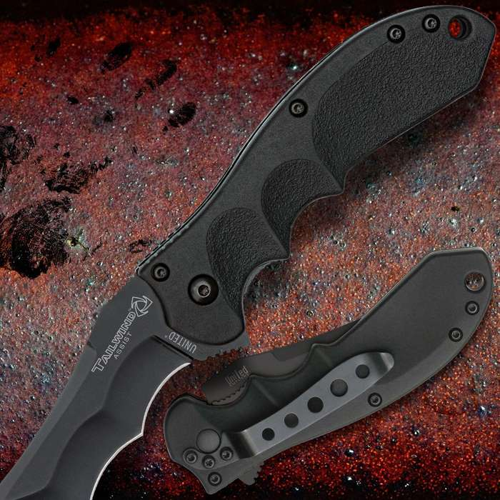 United Cutlery Tailwind Assisted Opening Urban Tactical Recurve Pocket Knife