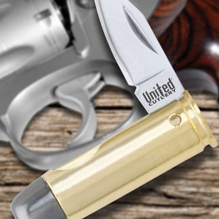 44 Magnum Bullet Pocket Knife