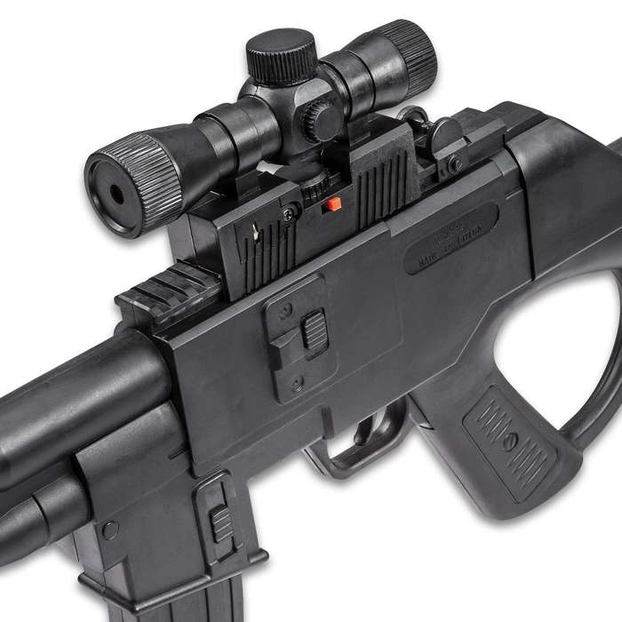 Tactical Spring Airsoft Shotgun with Scope and Laser Sight