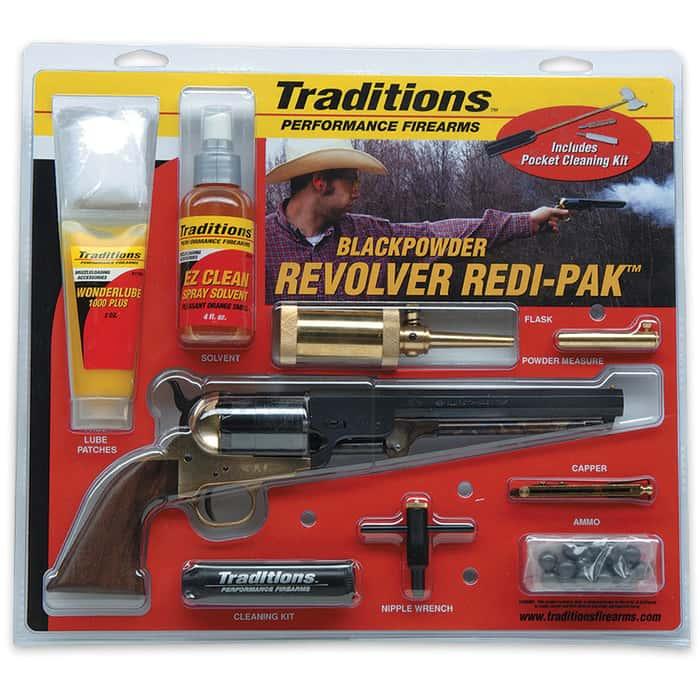 Traditions Firearms .44 Caliber 1860 Army Black Powder Revolver with Accessories - Redi-Pak