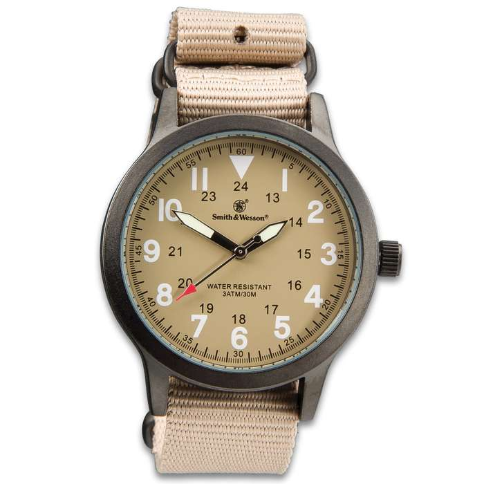 Smith & Wesson NATO Wristwatch - Canvas Band - Tan