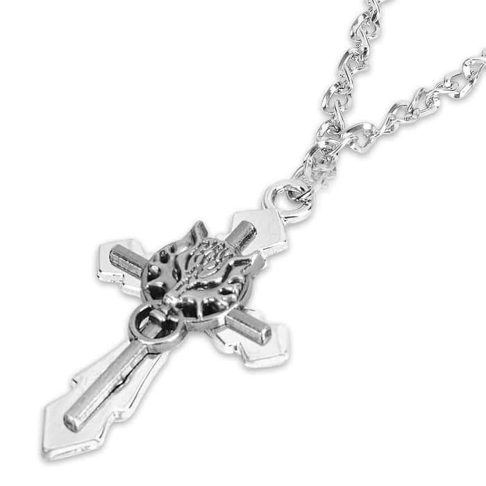 Dragon Knocker Cross Necklace