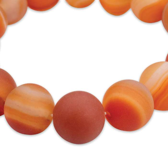 Red Banded Agate Stone Bracelet