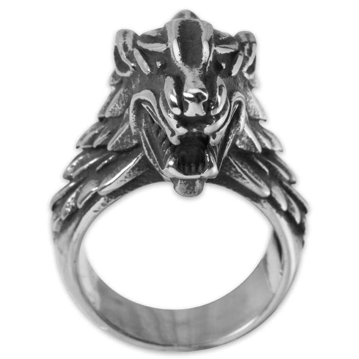 Twisted Roots Direwolf Stainless Steel Men's Ring