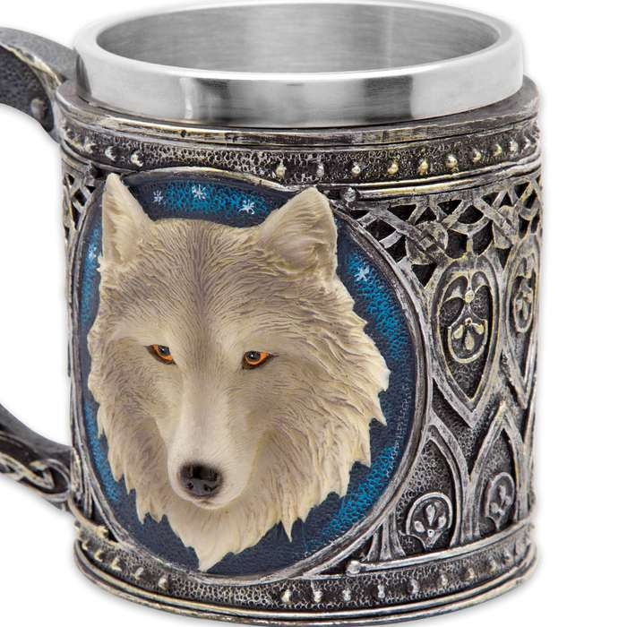 Call-of-the-Wild Fantasy Wolf 12-oz Coffee Mug Tankard
