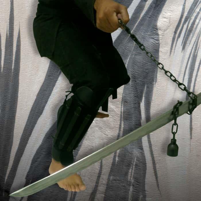 Black Manriki Chain - Japanese Weapon