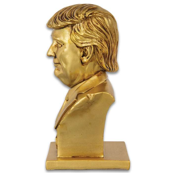 "President Donald Trump Bust - Crafted Of Polyresin, Realistic Details, Collectible Display Piece - Dimensions 6 1/2""x 3 1/2""x 3"""