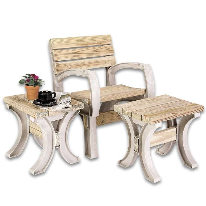 2 x 4 Basics AnySize Bench / Chair Kit - All Hardware, Instructions; Just add Lumber - Requires Only Saw, Screwdriver - Only Straight Cuts - Customizable Size