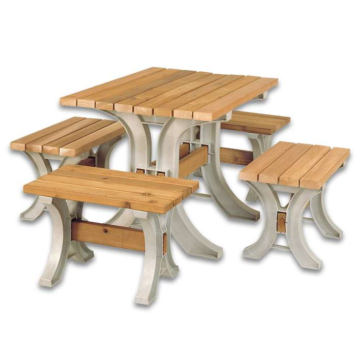 2 x 4 Basics AnySize Table / Bench Kit - All Hardware, Instructions; Just add Lumber - Requires Only Saw, Screwdriver - Only Straight Cuts - Customizable Size