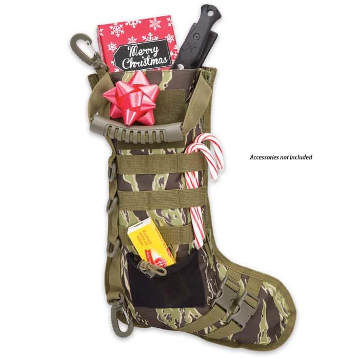 M48 Tactical Military Stocking - Zebra Camo