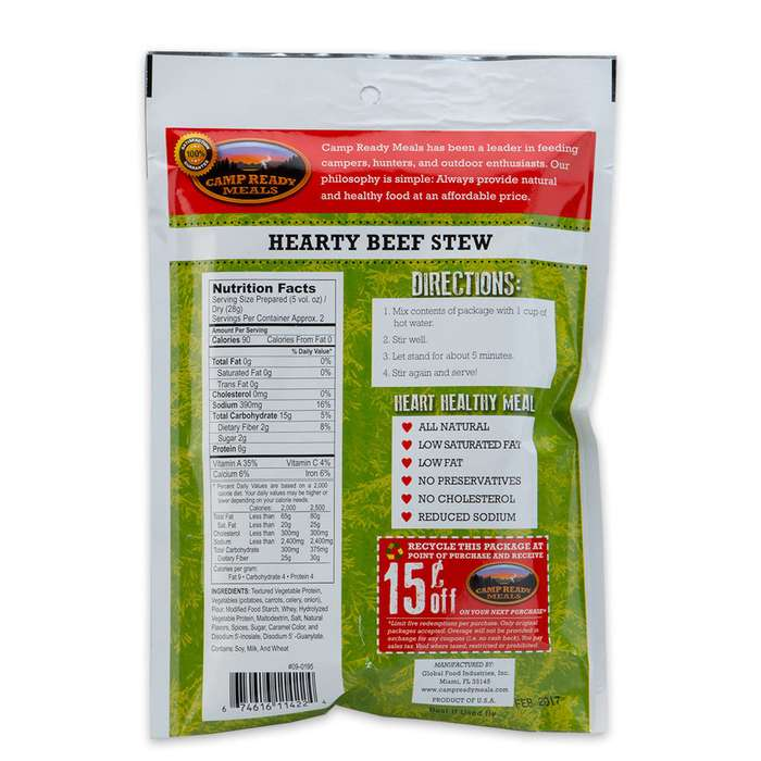Camp Ready Meals Hearty Beef Stew