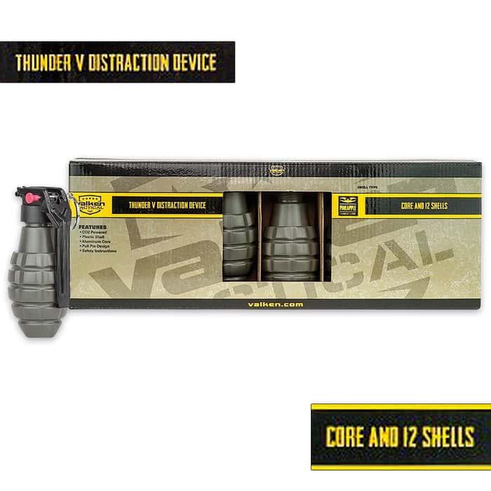 Valken Thunder V Pineapple 130 DB Sound Grenade - 12-Pack