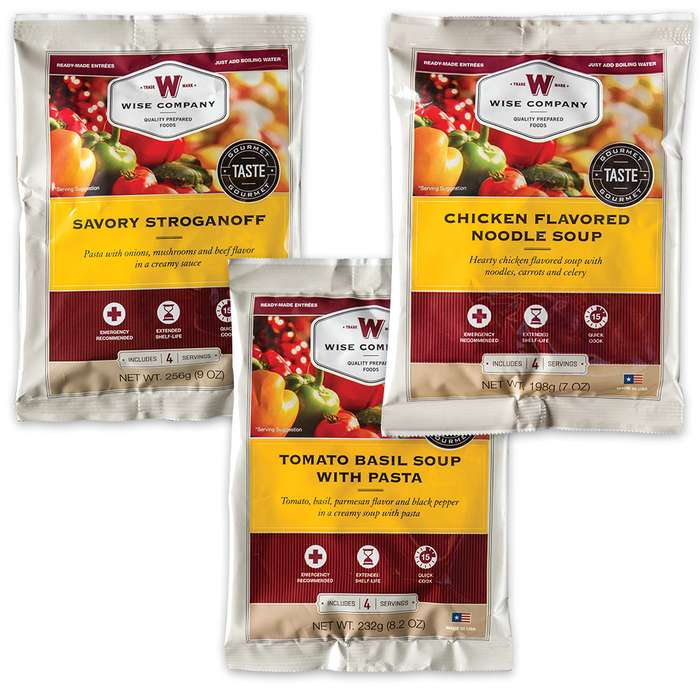 Wise Grab-and-Go Gourmet Food Kit -  60 Servings
