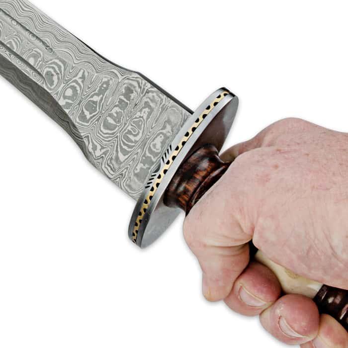 Legends In Steel Renaissance Heartwood and Bone Damascus Sword