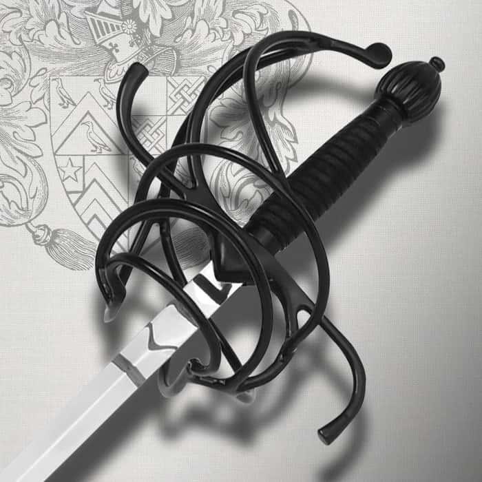 Black Middle Ages Rapier Sword