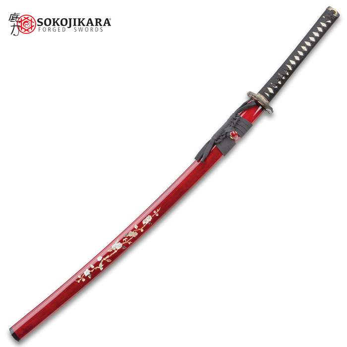 Sokojikara Silk Wrapped Bamboo Blossom Katana Sword