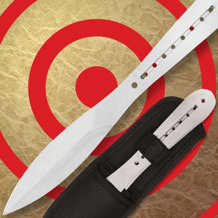 Negotiatior 3 Pack Throwing Knives and Sheath