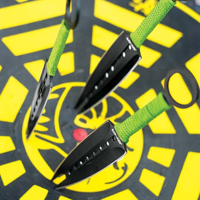 Black Legion Triple Terror 3 Piece Throwing Knife Set