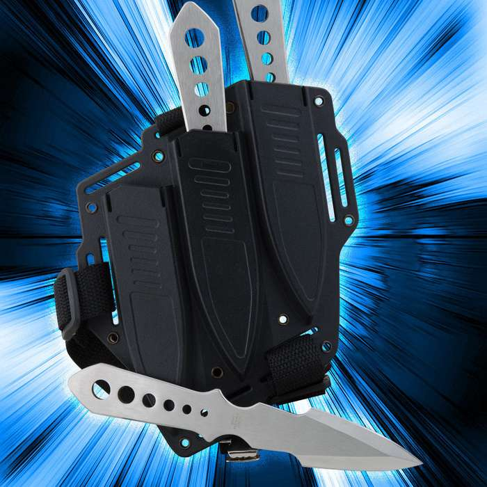 Lightning Bolt Throwing Knife 3 Pack and Sheath