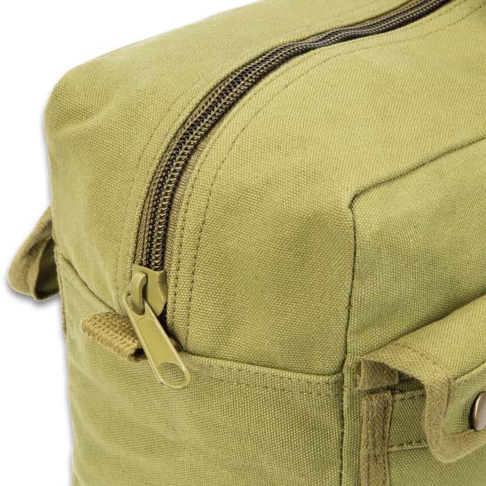 Jumbo Mechanics Tool Bag - Olive Drab, Heavyweight Cotton Canvas Construction, Heavy-Duty Cotton Web Handles