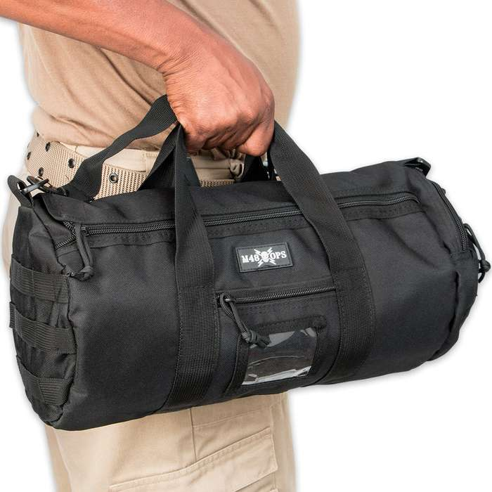 M48 Gear Tactical Military Overnight Duffle Bag Black