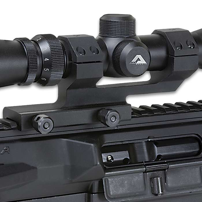 """30MM QD Cantilever Scope Mount - Anodized 6061 Aluminum Construction, Twin Recoil Lugs, Wide Contact Area - 1 3/4"""" Height"""