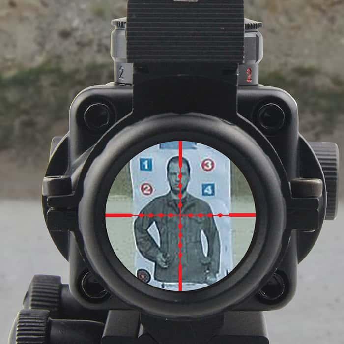 4X32 Tri-Illumination MIL-DOT Reticle Scope With Fiber Optic Sight