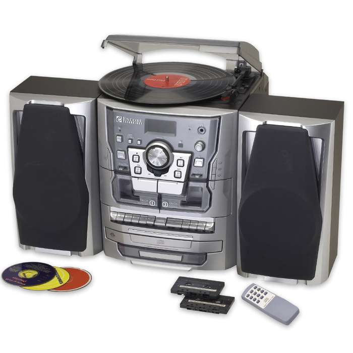 3-Piece Stereo With AM-FM - 3-CD - Dual Cassette