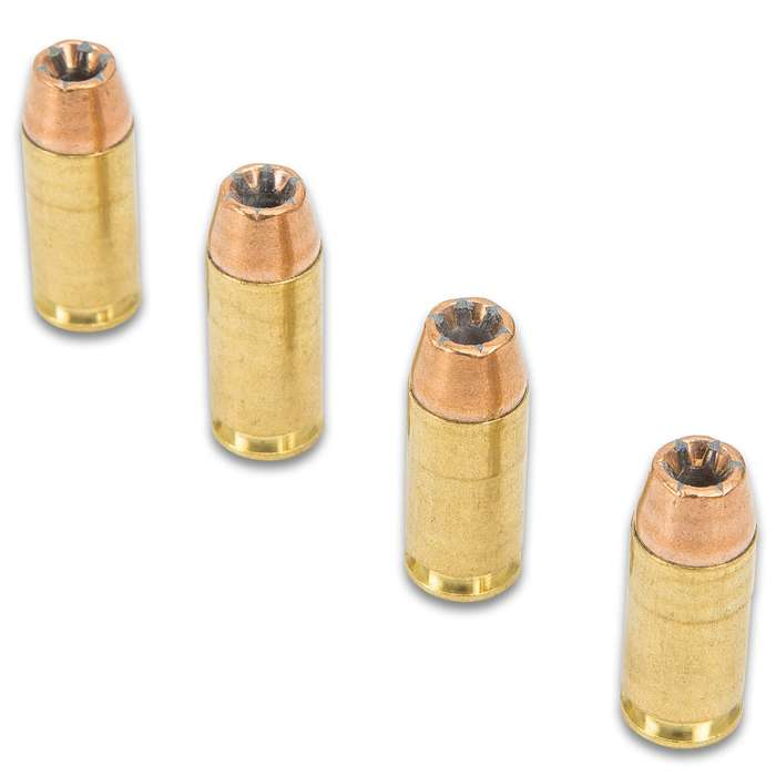 Magtech .40 Caliber / 155gr Smith & Wesson (S&W) Bonded Jacketed Hollow Point (JHP) Ammunition - Box of 50 Rounds - Military / Law Enforcement / Competition Grade - Self Defense and More