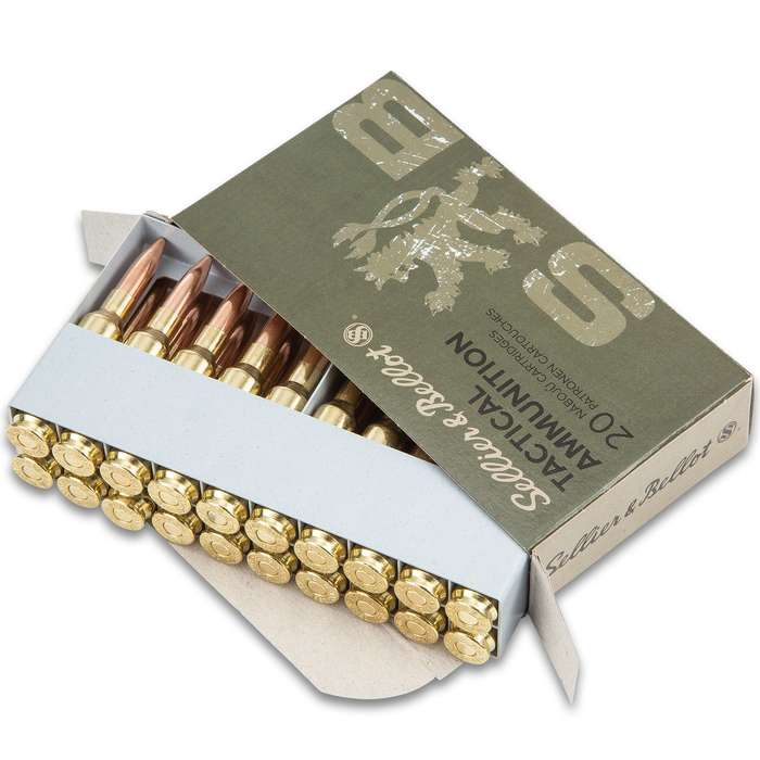 Sellier & Bellot 6.5 Creedmoor Rifle Cartridges - 140 Gr, Full Metal Jacket, Non-Corrosive, Brass Cases, 2,657 FPS - Box Of 20