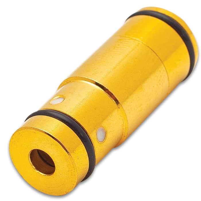 Laser Training .45 ACP Cartridge - Brass Construction, Rimless Design, Rubber Primer, Calibrated Red Laser Module