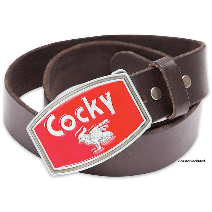 Cocky Red Belt Buckle