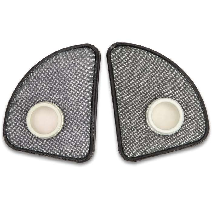 Polish MP4 Gas Mask Filters, Cheek Filters, Authentic Military Issue, Set of Two