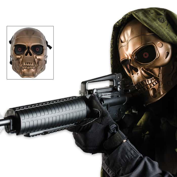 ABS Skeletal Bronze Solider Facemask
